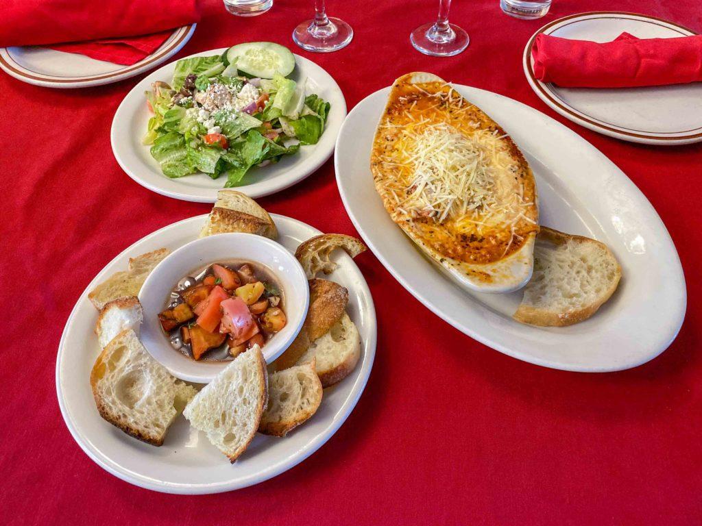 Italian complete lasagna dinner Ristorante Di Pompello