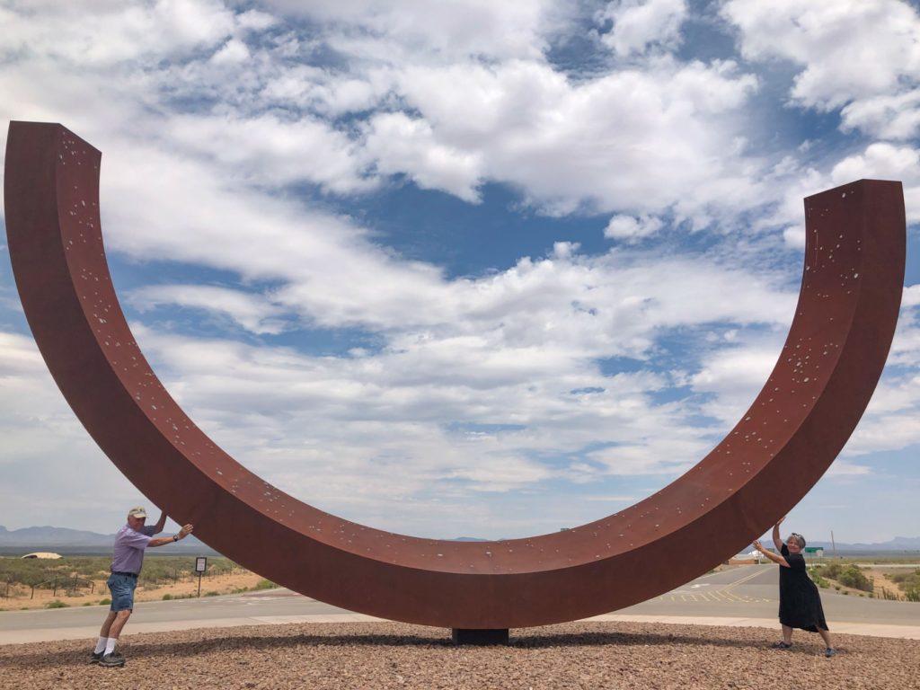 Genesis sculpture at Spaceport America