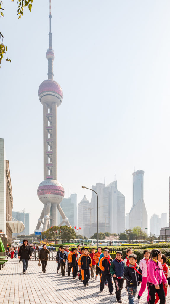Travel - Oriental Pearl TV Tower on The Bund Shanghai china