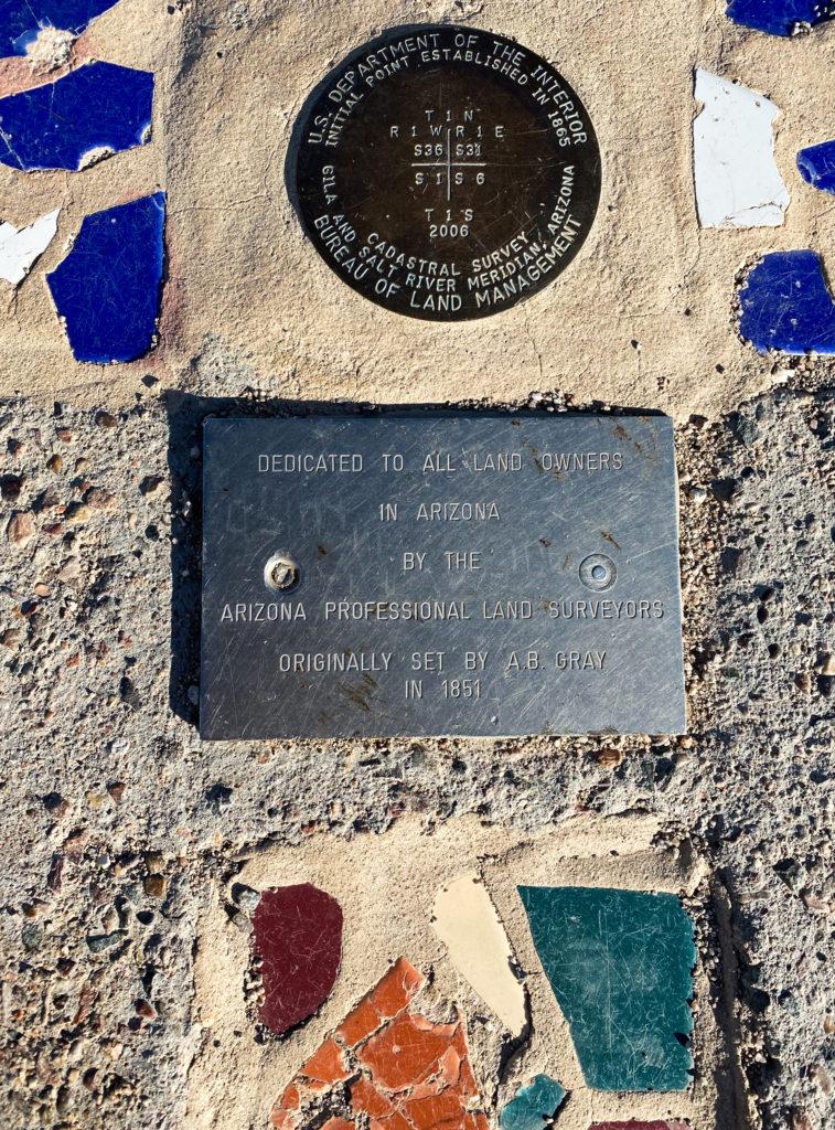 Arizona Professional Land Surveyors marker set 1851