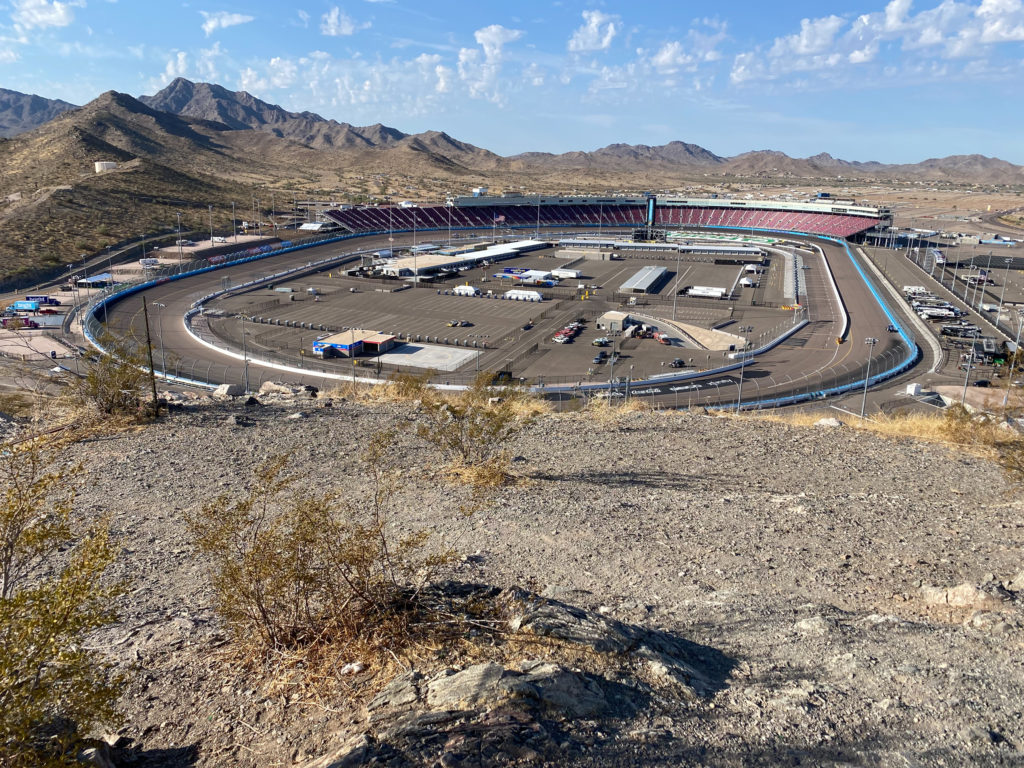 Phoenix Raceway from Marker Hill in Avondale, AZ