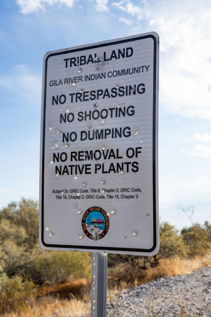 Avondale Tribal Land signpost
