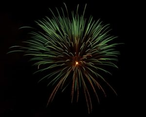 green fireworks Disney
