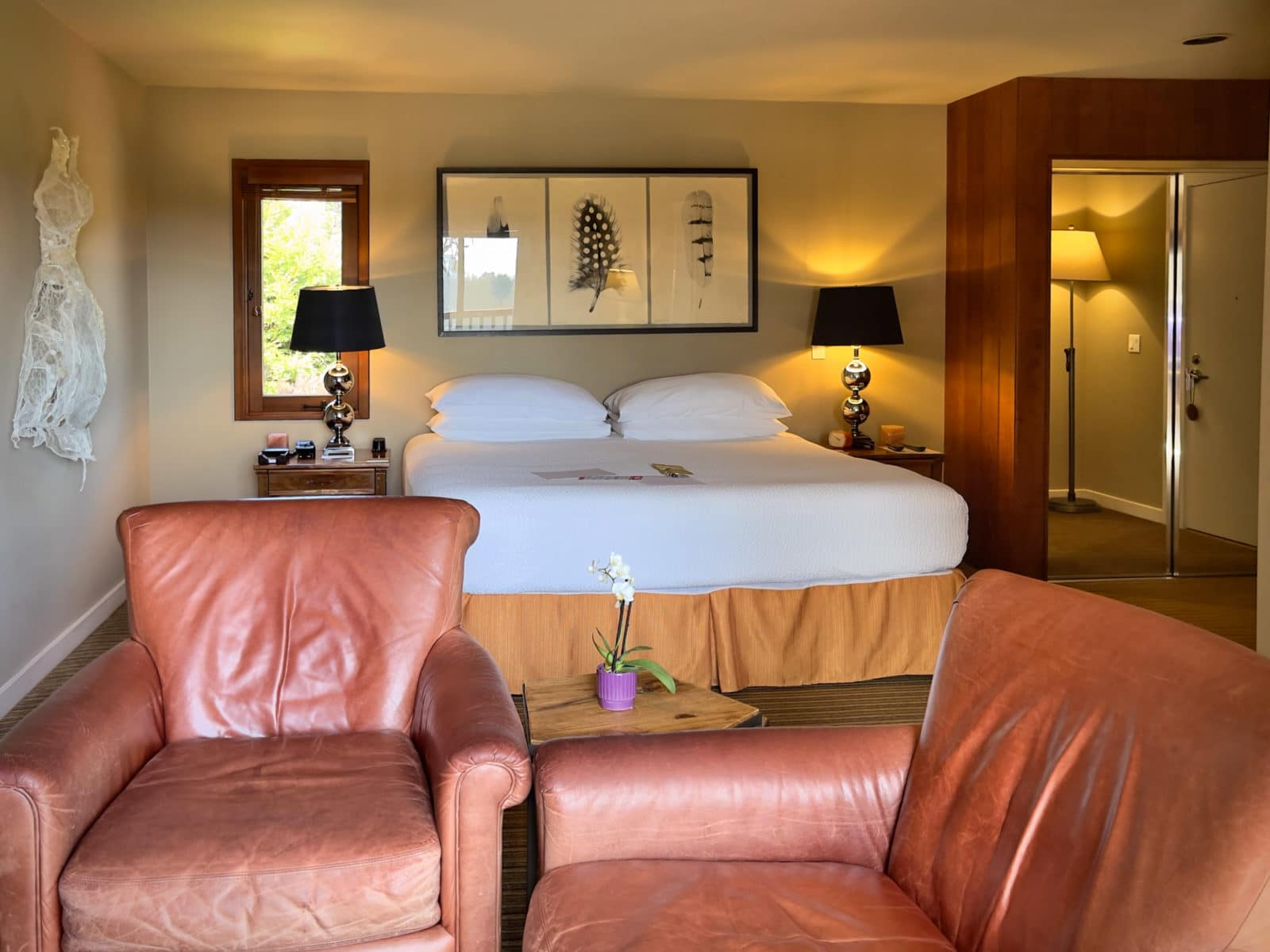 Mighty fine beds at the Brewery Gulch Inn Mendocino, California
