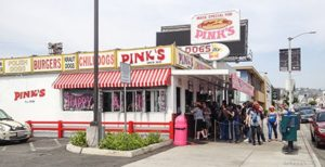 Pink's at Melrose and La Brea, Los Angeles, Orange County