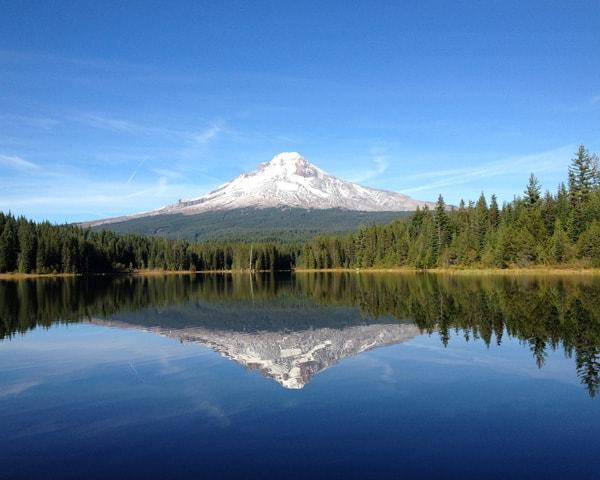 Reflection of Mt. Hood in Trillium Lake, Cascade Range, Oregon